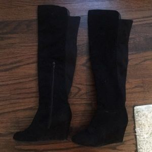 Chinese Laundry size 7 suede thigh high boots